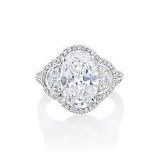 JB Star Platinum White Diamond Engagement Ring