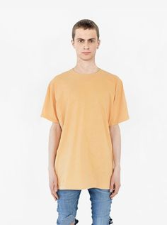 Pigment Dyed Basic Tee in Burnt Banana