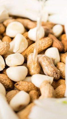 Beer Boiled Garlic & Onion Peanuts made in the crock pot.