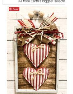 DIY Dollar Tree Sign Makeover using Craft Sticks – Lizzy & Erin Diy Valentine's Day Decorations, Valentines Day Decorations, Valentine Day Crafts, Holiday Crafts, Decoration St Valentin, Paint Stick Crafts, Dollar Tree Crafts, Valentine's Day Diy, Craft Sticks