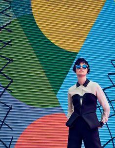visual optimism; fashion editorials, shows, campaigns & more!: wonder walls: vasilisa pavlova by nicholas ong for l'officiel singapore november 2014