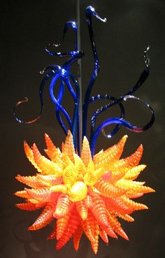Chihuly Flower Chandelier
