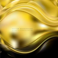 Black Gold Wavy Background #freevectors