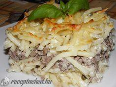 Rakott tészta Pulled Pork, Cheddar, Ethnic Recipes, Food, Shredded Pork, Cheddar Cheese, Essen, Meals, Yemek