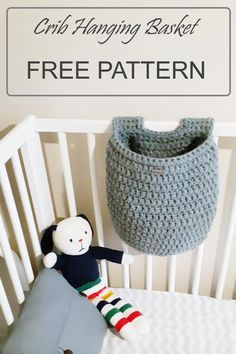Crochet Gifts, Easy Crochet, Free Crochet, Modern Crochet, Crochet Things, Hanging Crib, Hanging Baskets, Hanging Storage, Crochet Basket Pattern