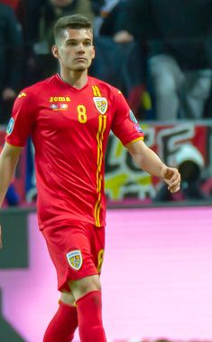 Ianis Hagi of Romania in He is the son of Romanian legend Gheorghe Hagi. Loud Laugh, Sushi Night, Italian Side, Sea Of Japan, Rangers Fc, Beautiful Children, Football Players, Romania, Guys