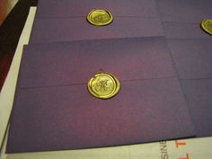 wax sealed invitations... very sexy