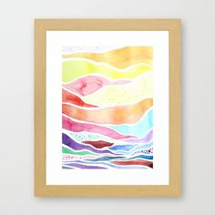 TUESDAY MORNING abstract watercolor art print in sunrise colors. $30.00, via Etsy.