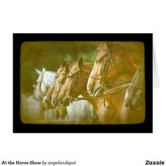 At the Horse Show Card