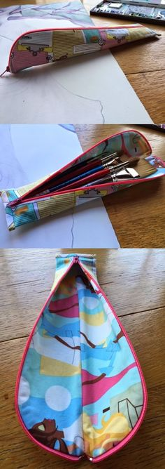 A Pencil Case and So Much More! - pattern by ithinksew.com