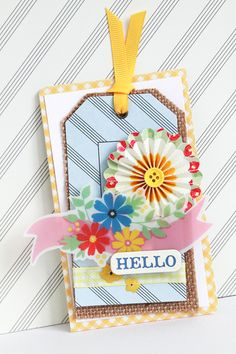Mayberry Tags by Michiko Kato - scrapbook tag american crafts mayberry - Handmade Tags, Greeting Cards Handmade, Scrapbooking, Scrapbook Cards, Homemade Gift Tags, Birthday Tags, Card Tricks, Card Making Inspiration, American Crafts