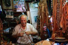 Sandal shop and tradesman, Monastiraki.