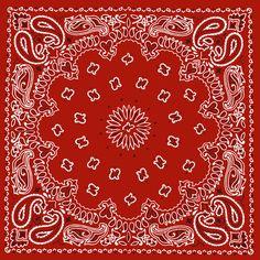 RED BANDANA, PRINTABLE BACKGROUND