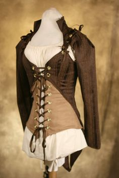 Brown Steampunk Jacket and Corset Set CUSTOM - This is so far beyond my skill set but maybe one day!