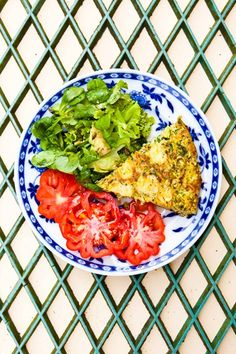Eggs, vegetables and herbs - a perfect meal combination. Then to round it all off, the tang of a strong cheddar or a milder goats' cheese crumbled on top and then browned under the grill.  For a cheese alternative try a tangy salsa verde or a basil pesto drizzled over the top of your frittata just before serving.