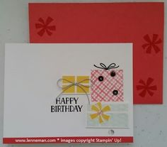 Your Presents Convention Make & Take- Dena Lenneman, Stampin' Up! Demonstrator