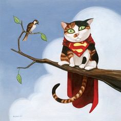 Geeky Pets by Alana McCarthy - Supercat