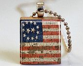 Uncle Sam I Want You Poster Scrabble Tile Pendant Patriotic Jewelry (ITEM S714) Free Ball Chain Necklace or Key Ring. $6.95, via Etsy.