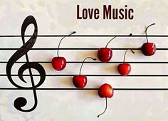Nice pic of music notes (cherries)