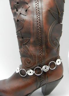 Silver Boot Bling  Jewelry Accent to your by Blingtimeaccessories