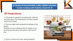 Review of Rosewill RHAI 13001 1800W Induction Cooker Cooktop with Stainl...