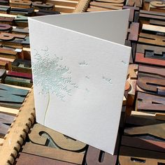 Say It With Type: wish -- letterpress card