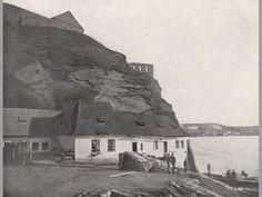 Vyšehradská skála s domkem převozníka 1870