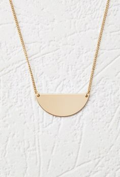 Half Circle Pendant Necklace | Forever 21 Canada