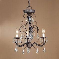 Cascadia Lighting 3-Light Edgebrook Oil-Burnished Bronze Crystal Accent Chandelier