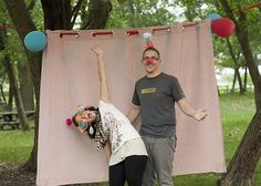 Homemade photo booth! Birthday party or just for fun.
