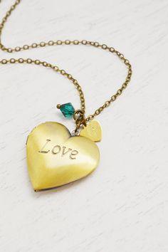 heart locket,bridesmaid love locket jewelry,heart jewelry,handstamped jewelry,custom initial,personalized birthstone necklace,love romantic