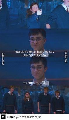 Harry's pick up line // funny pictures - funny photos - funny images - funny pics - funny quotes - Nerdy Pick Up Lines, Pick Up Lines Cheesy, Worst Pick Up Lines, Funny Photos, Funny Images, Harry And Ginny, Harry Potter Jokes, Mischief Managed, The Funny