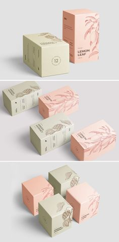 This beautiful minimal Box Mockup Collection by seawasp on Creative Market consi. This beautiful minimal Box Mockup Collection by seawasp on Creative Market consists of 12 high quality pre-made PSD Skincare Packaging, Tea Packaging, Cosmetic Packaging, Beauty Packaging, Brand Packaging, Product Packaging Design, Product Branding, Japanese Packaging, Packaging Boxes