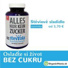 Stéviové sladidlo v organic kvalite a z Rakúska :) 0% cukru a kalórií.   Už od 15.5.2015 na www.OrganicMania.sk  #organicmania #stevia Stevia, Healthy Groceries, Health