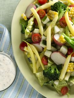 Summer Chopped Salad with Ranch Dressing from FoodNetwork.com