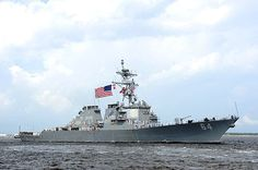 The guided-missile destroyer USS Carney (DDG 64) departs Mayport for their new homeport of Rota, Spain.