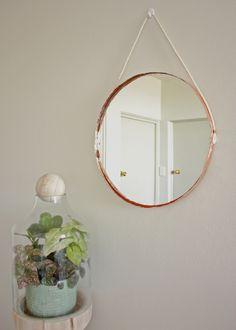 copper rope mirror