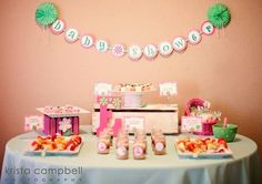 """Photo 1 of 24: Pink & Lime Green / Baby Shower/Sip & See """"Lil Ladybug Baby Shower"""" 