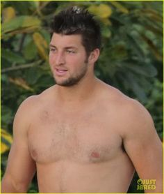 Tim Tebow shows off his shirtless muscular physique while on vacation in Hawaii over the weekend.    The 26-year-old football player was seen spending time withamp;hellip;
