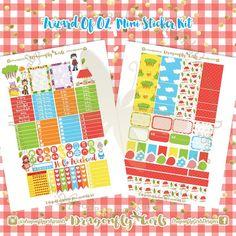 Red Riding Hood Printable Planner Stickers Mini Kits pdf 2 jpeg Erin Condren Life Planner Filofax MAMBI Color Crush Websters