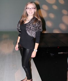 What I wore to the final evening of Western Canada Fashion Week 2014in Edmonton. #modestfashion #modest #stylejourney #black #leatherpants #leopard #animal