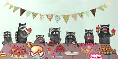 'Cupcake Party' by Eli Halpin Painting Print on Canvas