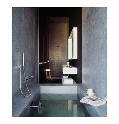 open-plan bathtub