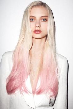 Bleach with pink ends.