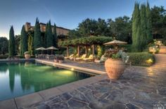 Tuscan style home -- Napa Valley, CA
