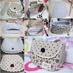 DIY How to Sew a Simple Summer Handbag | iCreativeIdeas.com Like Us on Facebook ==> https://www.facebook.com/icreativeideas