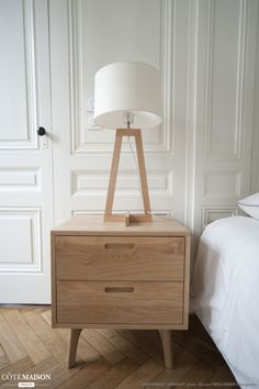 miniature Renovation of a Haussmannian apartment in Lyon, Lyon, Dominique Lapassat - architect Cosy Bedroom, Bedroom Decor, Home Furniture, Furniture Refinishing, Dresser As Nightstand, Decoration, Lyon, Interior Decorating, Sweet Home