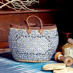Selma Hand-Woven Market Basket  ~ Hand-Crafted by artisans in Morocco via http://www.worldmarket.com/craft #CRAFTBYWORLDMARKET