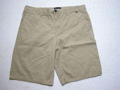 Men's Hurley Sz 38 Golf Shorts  Beige Tan  Casual Shorts ( Measure 38x11) #Hurley #CasualShorts