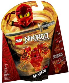 LEGO Ninjago Spinjitzu Kai 70659 for sale online Ninjago Kai, Ninjago Party, Lego Ninjago Spinners, Diy Ninja Costume, Ninjago Spinjitzu, Lego Videos, Pokemon, Lego Batman, Lego Marvel